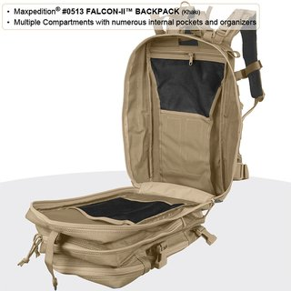 Maxpedition Falcon II 23L Rucksack in khaki