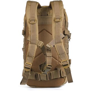 Red Rock Gear Assault Pack, coyote, 600D Polyester mit Mesh-Belüftung, MOLLE