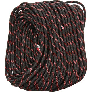 Live Fire FireCord 100ft 550 nylon paracord Black/Red Line