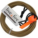 Live Fire Ring O Fire Coyote Brown 550 Fire Cord LF63
