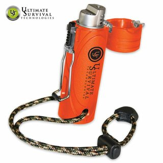 UST Trekker Sturmfeuerzeug Stormproof Survival Lighter Blaze Orange
