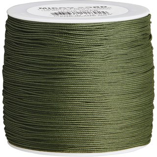 Atwood Rope MFG - Micro Cord Hightech-Schnur in olive, 1,18 mm, 304,8 Meter