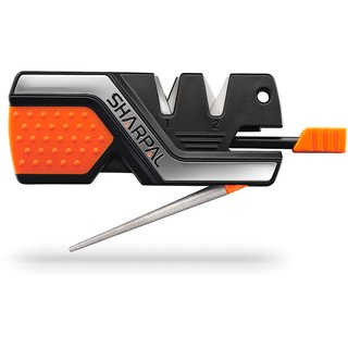 Sharpal 6-In-1 Knife Sharpener & Tool Messerschärfer mit Feuerstahl Notpfeife