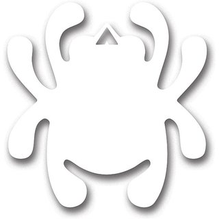 Spyderco Mirror Decal Bug White