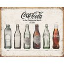 Tin Signs Coke Bottle Evolution