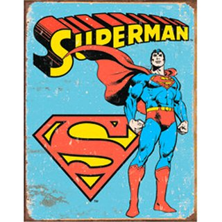 Tin Signs Superman -Retro
