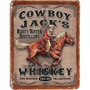 Tin Signs Cowboy Jacks Whiskey