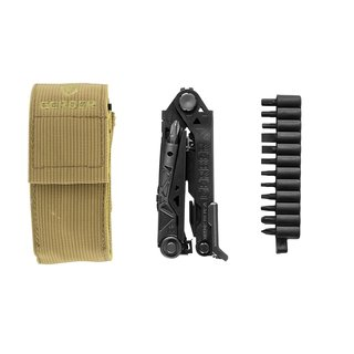 Gerber Multitool Center Drive Black mit Bit-Set, MOLLE-kompatiblen Gürteletui